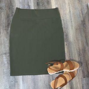 LULAROE - Green Cassie Skirt